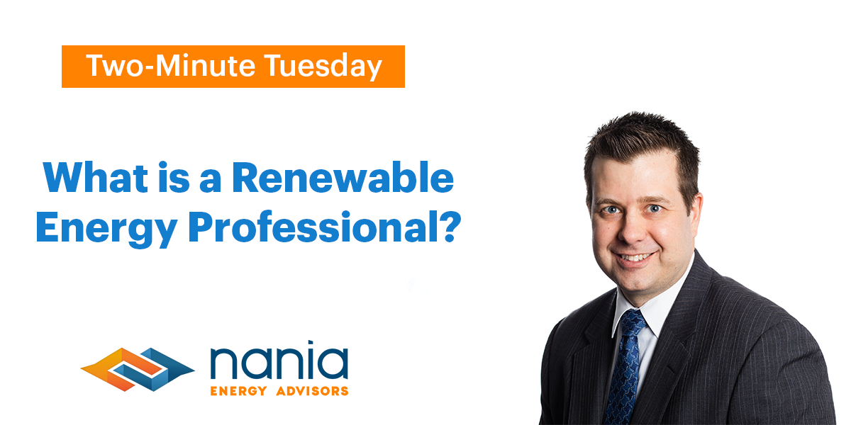 What is a Renewable Energy Professional?